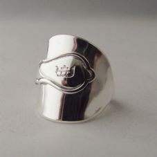 Stunning Handmade Antique Chunky Sterling Silver 925 Spoon Ring dated 1928